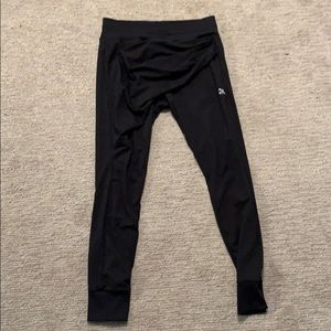Pants - Black joggers with swoop